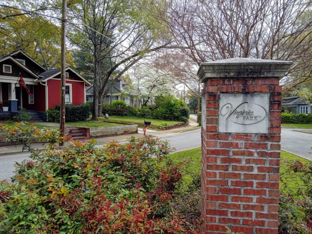 The Triangle at Custer Street and Rainey in Virginia Park, Hapeville, GA.