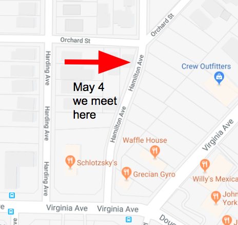 Map to our May 4 2019 meeting